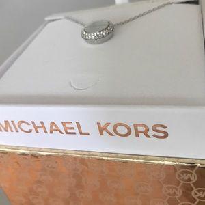 Michael Kors Jewelry - LAST 1 ⭐️ MK logo pave disk Pendant necklace